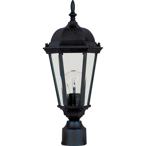 Maxim Lighting 1001BK Westlake Cast 1-Light Outdoor Pole/Post Lantern in Black Finish