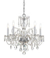 Crystorama 1005-CH-CL-MWP Traditional Crystal 5 Light Crystal Chrome Chandelier