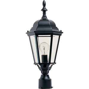 Maxim Lighting 1005BK Westlake Cast 1-Light Outdoor Pole/Post Lantern in Black Finish