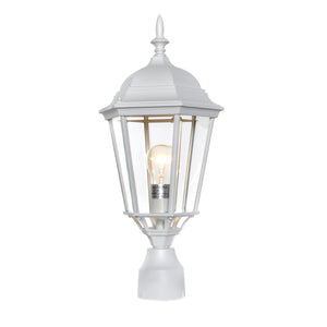 Maxim Lighting 1005WT Westlake Cast 1-Light Outdoor Pole/Post Lantern in White Finish