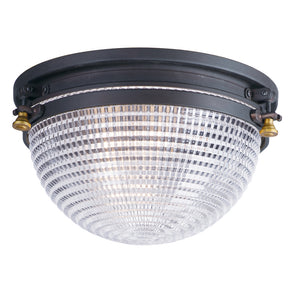 Maxim Lighting 10180OIAB Portside-Outdoor Flush Mount in Oil Rubbed Bronze / Antique Brass
