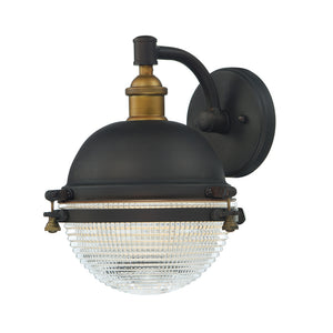 Maxim Lighting 10182OIAB Portside 1-Light Outdoor Wall Sconce in Oil Rubbed Bronze / Antique Brass Finish
