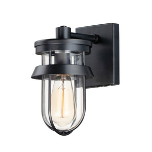 Maxim Lighting 10265CLBK Breakwater 1-Light Outdoor Wall Sconce in Black Finish