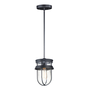 Breakwater 1 Light Semi Flush Mount in Black Finish by Maxim Lighting 10268CLBK