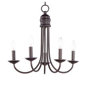 Logan 5 Light Multi-Light Pendant in Oil Rubbed Bronze Finish by Maxim Lighting 10345OI