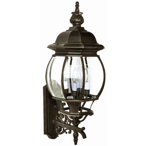 Maxim Lighting 1037RP Crown Hill 4-Light Outdoor Wall Lantern in Rust Patina Finish