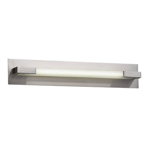 PLC Lighting 1044 SN Polis Collection 1 Light Vanity in Satin Nickel Finish