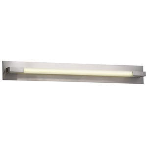 PLC Lighting 1046SNLED Polis Collection 1 Light Vanity in Satin Nickel Finish