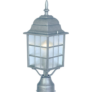 Maxim Lighting 1052PE North Church 1-Light Outdoor Pole/Post Lantern in Pewter Finish