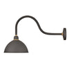 Foundry Dome Outdoor Wall Mount by Hinkley 10554MR Museum Bronze