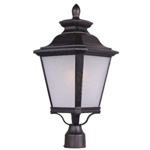 Maxim Lighting 1120FSBZ Knoxville 1-Light Outdoor Pole/Post Lantern in Bronze Finish