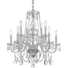 Crystorama 1130-CH-CL-MWP Traditional Crystal 10 Light Clear Crystal Chrome Chandelier