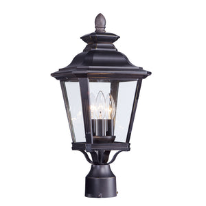 Maxim Lighting 1130CLBZ Knoxville 3-Light Outdoor Post in Bronze Finish