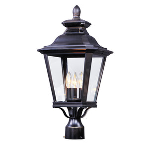 Maxim Lighting 1131CLBZ Knoxville 3-Light Outdoor Post in Bronze Finish