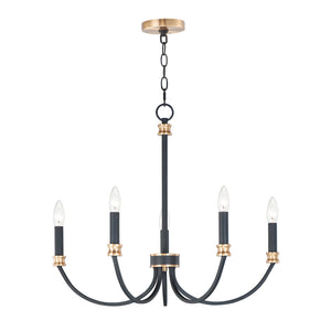 Charlton 5 Light Chandelier in Black Finish by Maxim Lighting 11375BKAB