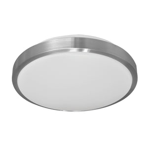 PLC Lighting 1150AL Milan Collection 1 Light Ceiling Mount in Aluminum Finish