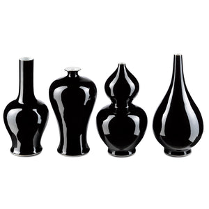 Imperial Black Vase Set in Imperial Black by Currey and Company 1200-0223