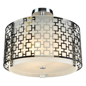 PLC Lighting 12159 PC Ethen Collection 3 Light Ceiling in Polished Chrome Finish
