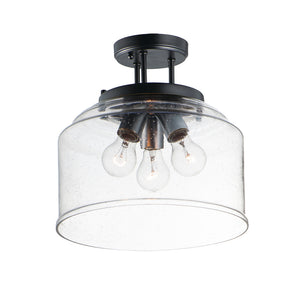 Acadia 3 Light Semi Flush Mount in Black Finish by Maxim Lighting 12271CDBK