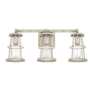 Capital Lighting Beaufort 127431MS 3 Light Bathroom Vanity Fixture in Mystic Sand