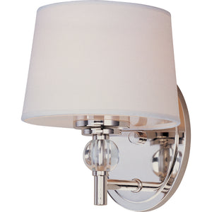 Maxim Lighting 12761WTPN Rondo-Wall Sconce in Polished Nickel