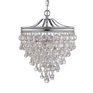 Crystorama 130-CH Calypso 3 Light Chrome Mini Chandelier
