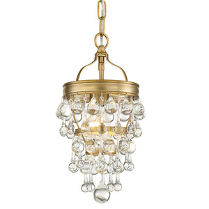 Crystorama 131-VG Calypso 1 Light Vibrant Gold Mini Chandelier