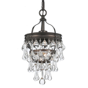 Crystorama 131-VZ Calypso 1 Light Bronze Mini Chandelier