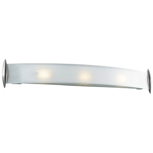 PLC Lighting 1343 SN Scroll Collection 3 Light Vanity in Satin Nickel Finish
