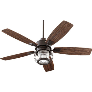 Galveston 1 Light Patio Fan in Oiled Bronze Finish 13525-86