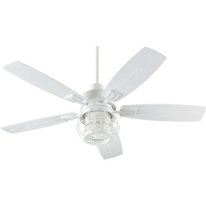 Galveston 1 Light Patio Fan in Studio White Finish 13525-8