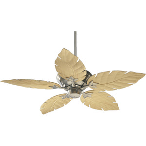 Monaco Patio Fan in Satin Nickel Finish 135525-65