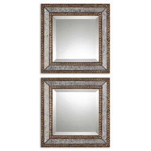 Uttermost Norlina Squares Antique Mirror Set/2 13790