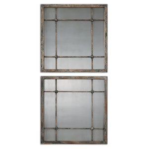 Uttermost Saragano Square Mirrors Set/2 13845
