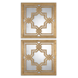 Uttermost Piazzale Gold Square Mirrors S/2 13865