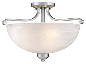 Paradox 3 Light Semi Flush Mount In Brushed Nickel Finish by Minka Lavery 1424-84-PL
