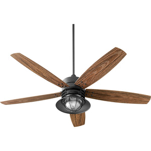 Portico 1 Light Patio Fan in Noir Finish 14605-69