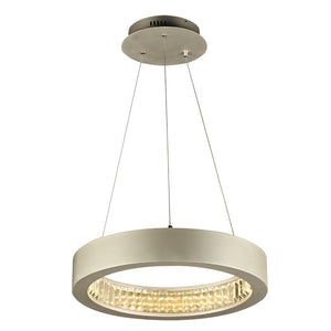 PLC Lighting 14833AL Orion Collection 1 Light Ceiling Mount in Aluminum Finish