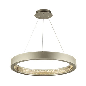PLC Lighting 14835AL Orion Collection 1 Light Ceiling Mount in Aluminum Finish