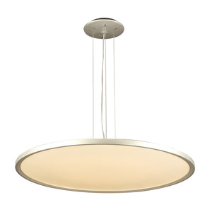 PLC Lighting 14848AL Thin Collection 1 Light Ceiling Mount in Aluminum Finish