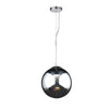 PLC Lighting 14853 PC Mercury Collection 1 Light Pendant in Polished Chrome Finish