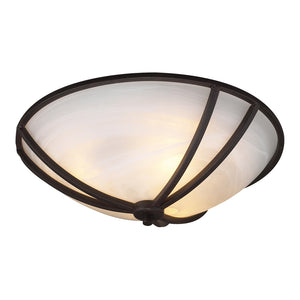 PLC Lighting 14861 ORB Highland Collection 2 Light Ceiling in Oil Rubbed Bronze Finish