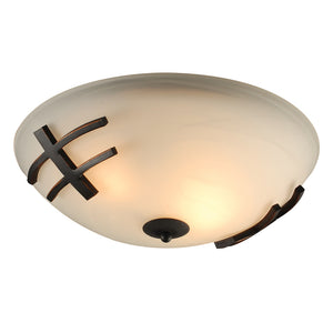 PLC Lighting 14872 ORB Antasia Collection 2 Light Ceiling in Oil Rubbed Bronze Finish