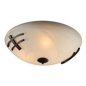 PLC Lighting 14875 ORB Antasia Collection 3 Light Ceiling in Oil Rubbed Bronze Finish