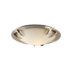 PLC Lighting 14892 SN Paralline Collection 1 Light Ceiling in Satin Nickel Finish