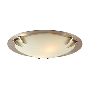 PLC Lighting 14894 SN Paralline Collection 2 Light Ceiling in Satin Nickel Finish