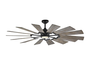 "Prairie Fan 62"" Aged Pewter Indoor Ceiling Fan by Monte Carlo Fans 14PRR62AGPD"