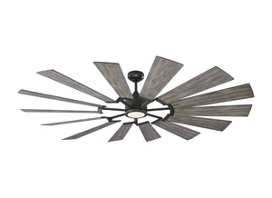 "Prairie Grand 72"" Aged Pewter Indoor Ceiling Fan by Monte Carlo Fans 14PRR72AGPD"