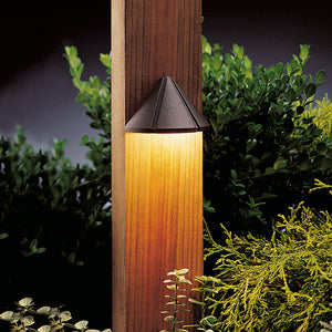 Six Groove 1 Light Deck Landscape Lighting in Textured Architectural Bronze Finish by Kichler 15065AZT
