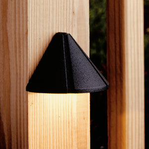 Six Groove 1 Light Deck Landscape Lighting in Textured Black Finish by Kichler 15065BKT